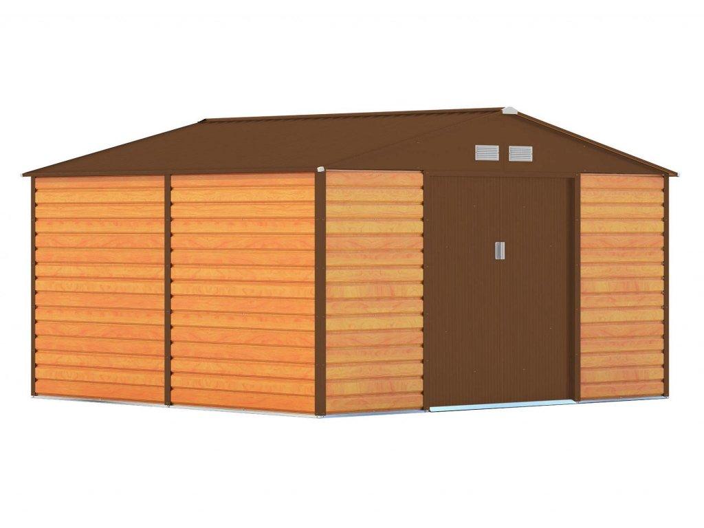 Záhradný domček G21 GAH 1085 - 340 x 319 cm, hnědý