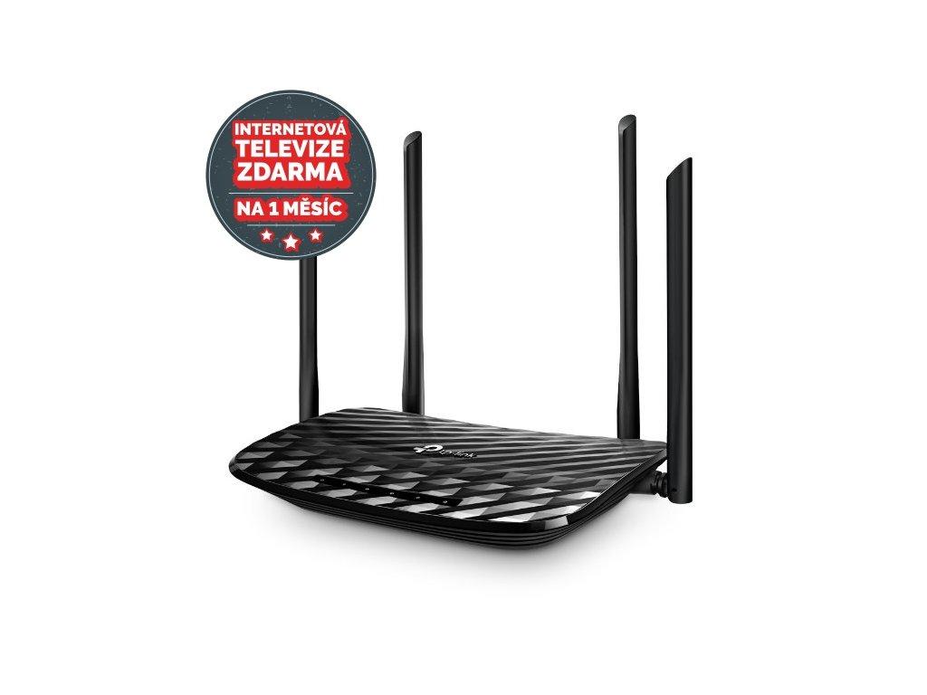 WiFi router TP-Link Archer C6 AC1200 dual AP, 4x GLAN/ 300Mbps 2,4/ 867Mbps 5GHz