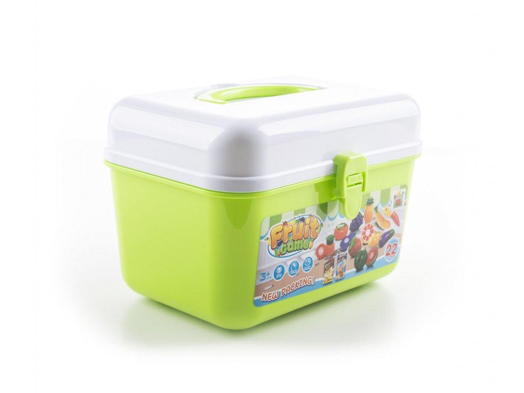 Hračka G21 Ovocie a zelenina v kufríku