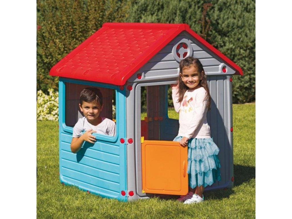 Záhradný domček dětský plastový modrý