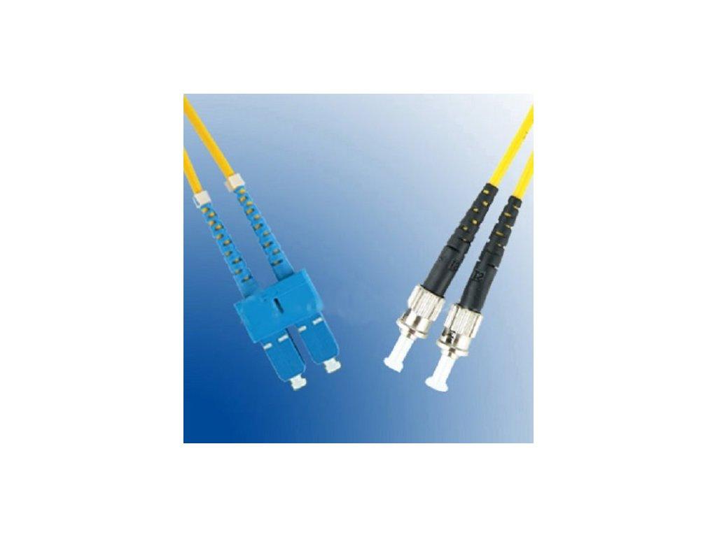 Patch kábel optický duplex ST-SC 09/125 5m SM