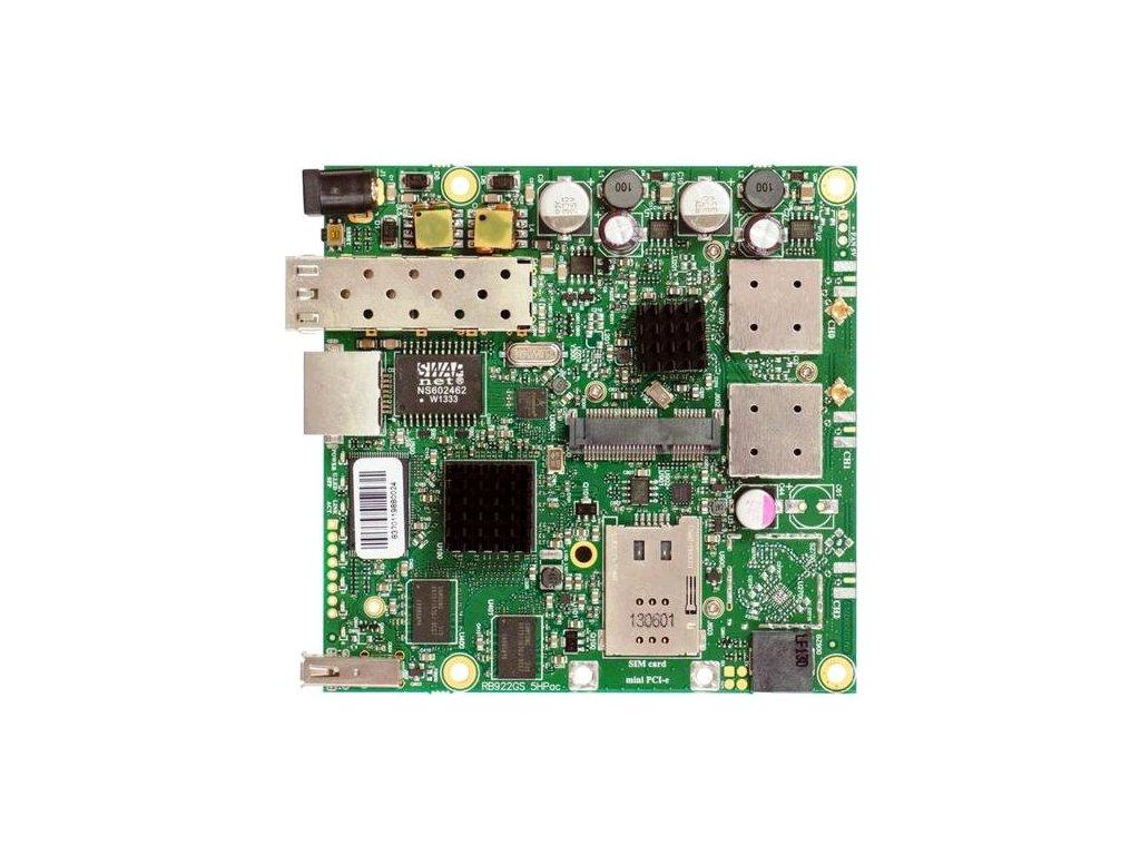 RouterBoard Mikrotik RB922UAGS-5HPacD 802.11ac 2x2 two chain, RouterOS L4, miniPCIe, USB, SFP, SIM, 1xGLAN, 2xMMCX