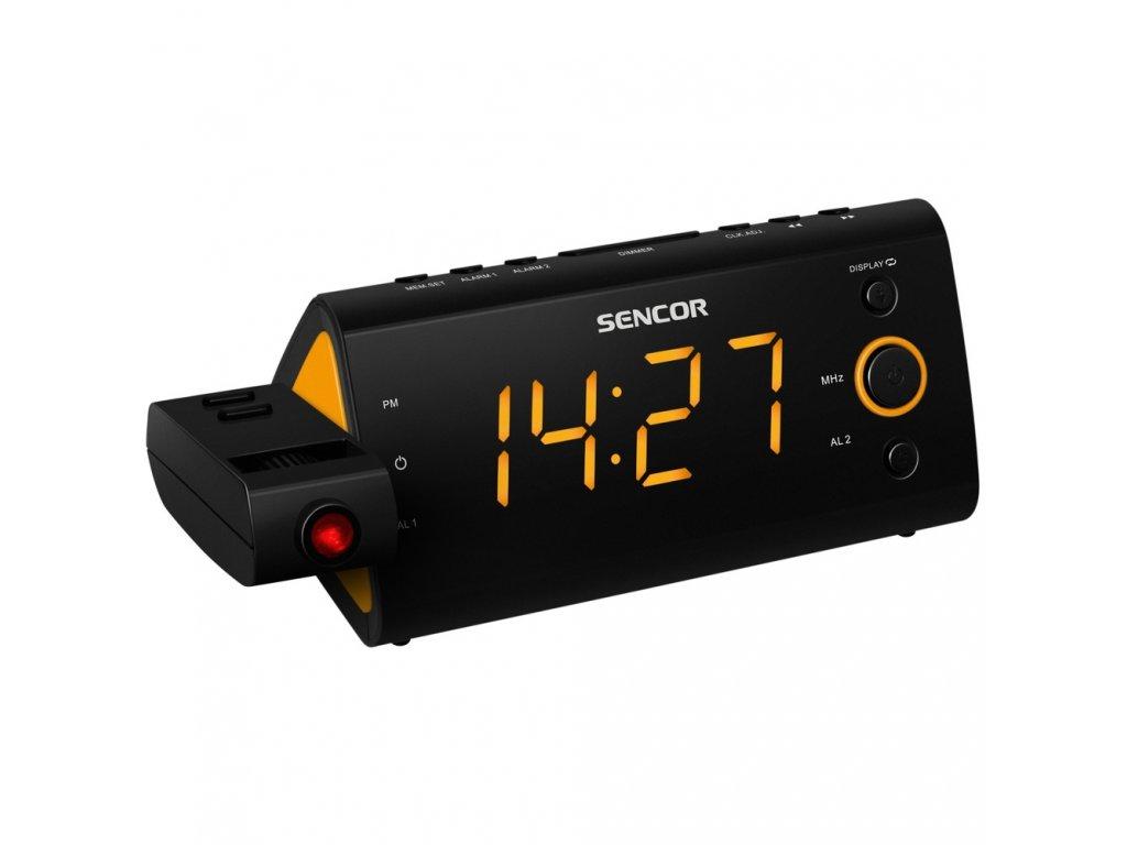 Radiobudík Sencor SRC 330 OR S PROJEKCÍ černo-oranžový