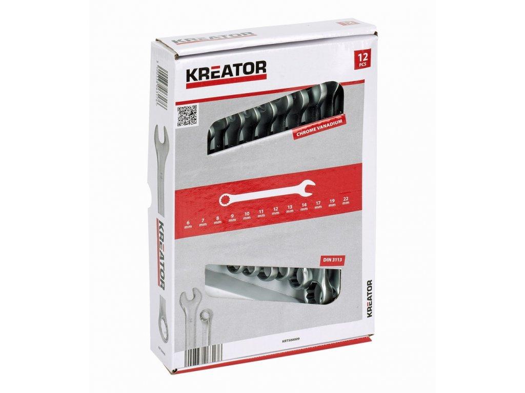 Sada kľúčov Kreator KRT500009 očkoploché 8-22mm, 12ks