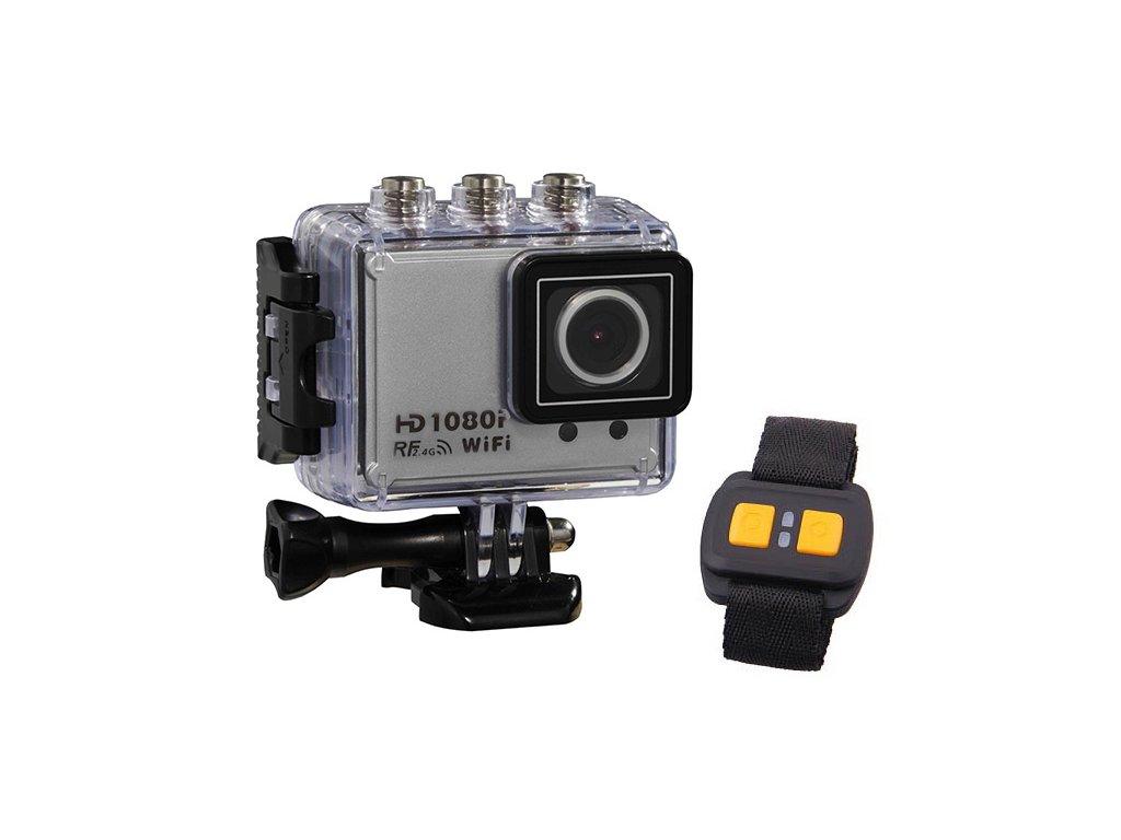Športová kamera AT200 1.5 TFT Wifi Full HD strieborná
