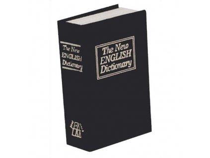 Trezor kniha, 180x115x54mm černá