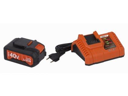 Sada Powerplus POWDP9065 Nabíjačka 20V/40V plus Batéria 40V 2Ah