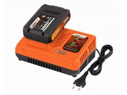 Sada Powerplus POWDP9062 nabíjačka 20/40 V plus batéria 20 V