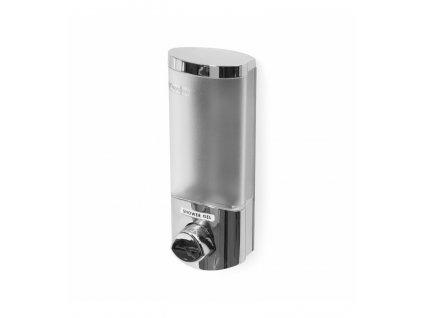 Dávkovač Compactor Uno mydla / šampónu na stenu, chróm plast, 360 ml, RAN6014