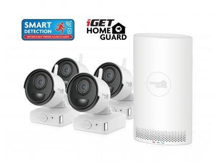 Kamerový set iGET HOMEGUARD HGNVK68004 Wire-free FullHD NVR 6CH + 4x batériová kamera HGNVK686CAM
