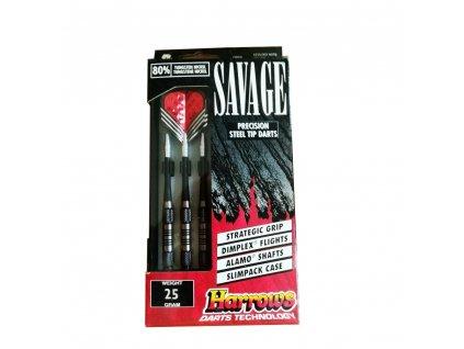 Šípky Harrows steel Savage 25g, 80% wolfram