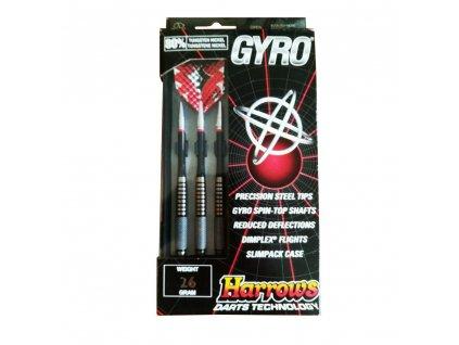 Šípky Harrows steel Gyro 26g, 80% wolfram