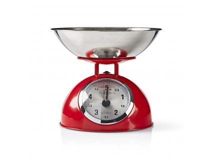 Kuchynská váha Nedis Retro KASC 110, červená