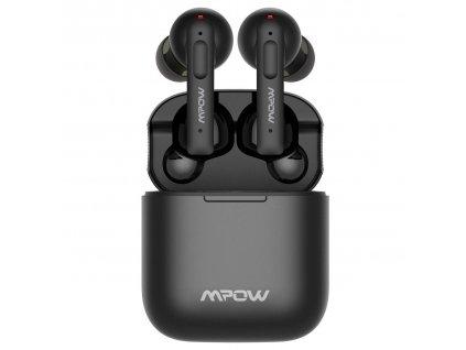 Slúchadlá MPOW X3 ANC TWS – bezdrôtové s dobíjacím boxom, čierne
