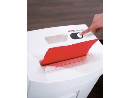 Skartovač HSM Pure 220 P-4, 4x25mm, 7 listů, 20l, Credit Card, Sponky