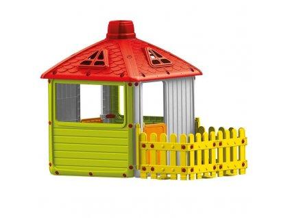 Záhradný domček Dolu s plotem, plastový