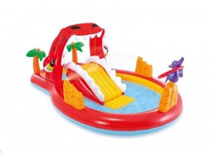 Bazén Intex Vodné hracie centrum Happy Dino play 259 x 165 x 107 cm