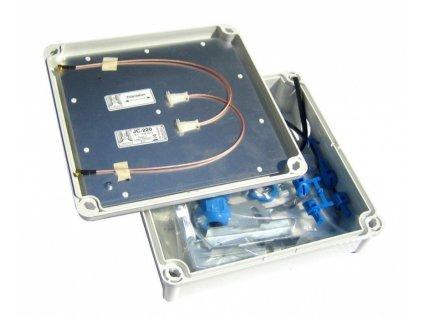 Outdoor box J&J Jirous GentleBox JC-220MCX Dvoupolarizační panelová anténa 2x17dBi s integrovaným outdoor boxem