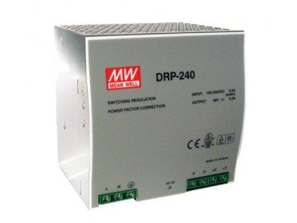 Zdroj Mean-well DRP-240-24 průmyslový napájecí zdroj 24V 10A na DIN lištu