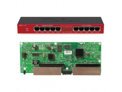 RouterBoard Mikrotik RB2011iL-IN 5x Gbit LAN, 5x 100 Mbit LAN, case, L4