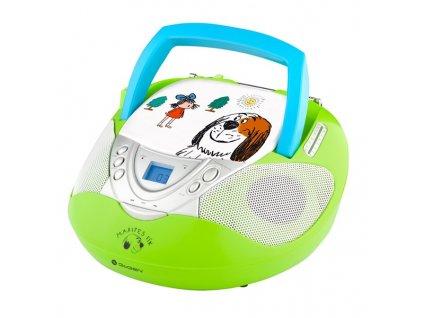 Rádio GoGEN MAXI RADIO GN s CD/MP3/USB, zelené