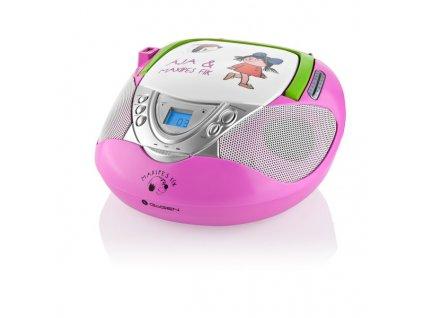Rádio GoGEN MAXI RADIO P s CD/MP3/USB, růžové