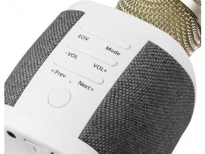 Karaoke set Technaxx FABRIC bluetooth karaoke mikrofon, 2x5W repro, šedá (BT-X44)