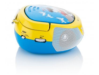 Rádio GoGEN MAXIPREHRAVAC B s CD/MP3/USB, s mikrofónom, modrá / žltá