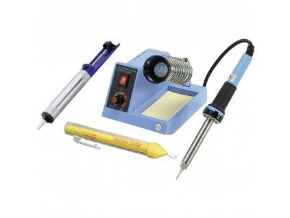 Pájecí stanice Basetech ZD-99 588417 analógový, 48 W, +150 až +450 ° C, + odsávacia pumpa, + spájka