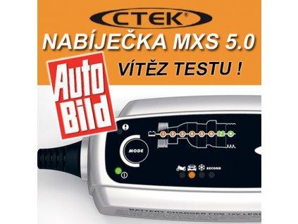 Nabíjačka CTEK MXS 5.0 new pro autobaterie, s teplotním čidlem (12V, 0,8/5A, 1,2-110Ah/160 Ah)