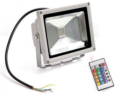 RGB LED Reflektor 30W + diaľkové