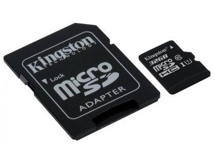 Pamäťová karta kingston microSDHC 32GB UHS-I U1 + adaptér