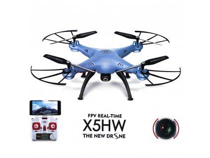 Syma X5HW, WiFi FPV, kamera HD, 2.4GHz , modrý