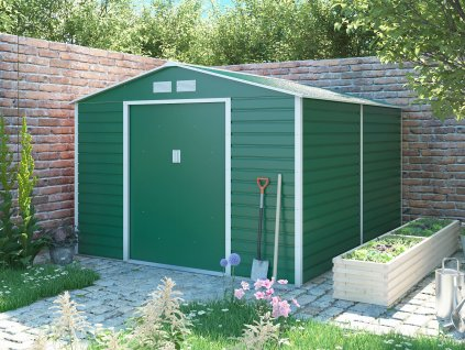 Záhradný domček G21 GAH 884 - 277 x 319 cm, zelený
