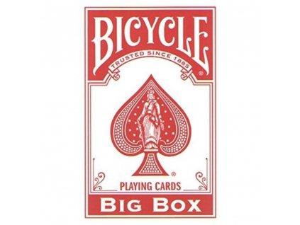 Karty Bicycle Big Box, červené, XXL