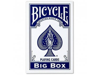 Karty Bicycle Big Box, modré, XXL